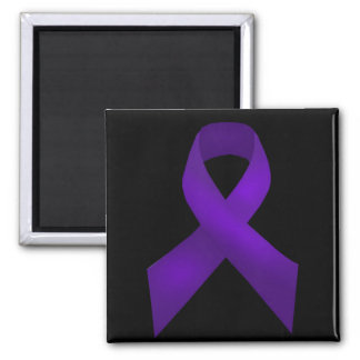 Purple Ribbon Awareness Lupus Fridge Magnet