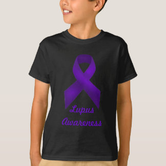 Purple Ribbon Awareness Lupus T-Shirt