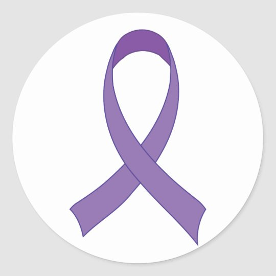Purple Ribbon Awareness Tshirt Gift Classic Round Sticker