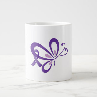 Purple Ribbon Butterfly Mug