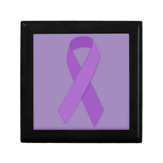 PURPLE RIBBON CAUSES support for Alzheimer's disea Trinket Box