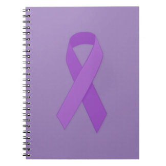 PURPLE RIBBON CAUSES support for Alzheimer's disea Spiral Note Books