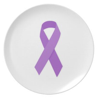 PURPLE RIBBON CAUSES support for Alzheimer's disea Plate