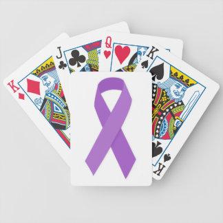 PURPLE RIBBON CAUSES support for Alzheimer's disea Card Decks
