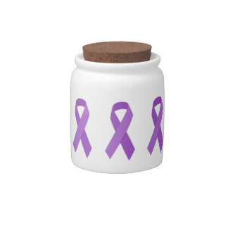 PURPLE RIBBON CAUSES support for Alzheimer's disea Candy Jars