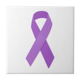 PURPLE RIBBON CAUSES support for Alzheimer's disea Ceramic Tiles
