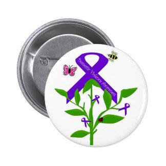 Purple ribbon Domestic Violence Awareness button