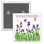 Purple ribbon garden button