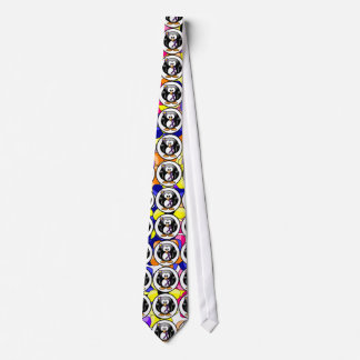 Purple Ribbon Penguin Tie