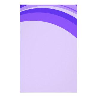 Purple Ribbon Personalized Stationery