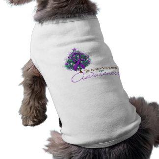 Purple Ribbon Xmas Awareness Season Pet T-shirt