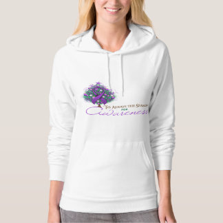 Purple Ribbon Xmas Awareness Season Hoodie