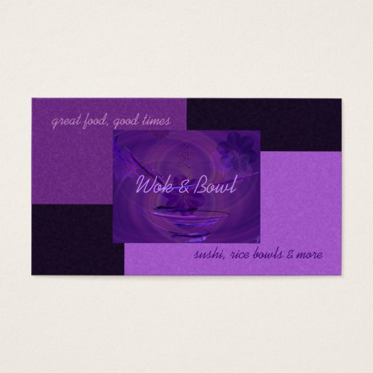 Purple Rice Bowl Abstract Art Business Card