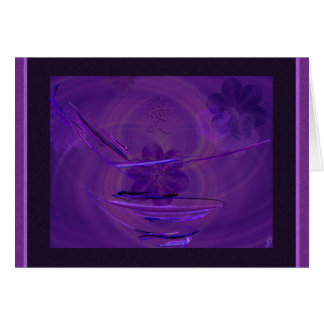 Purple Rice Bowl Abstract Art Card