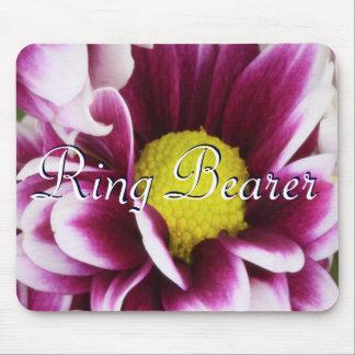Purple Ring Bearer Bouquet Mouse Pad