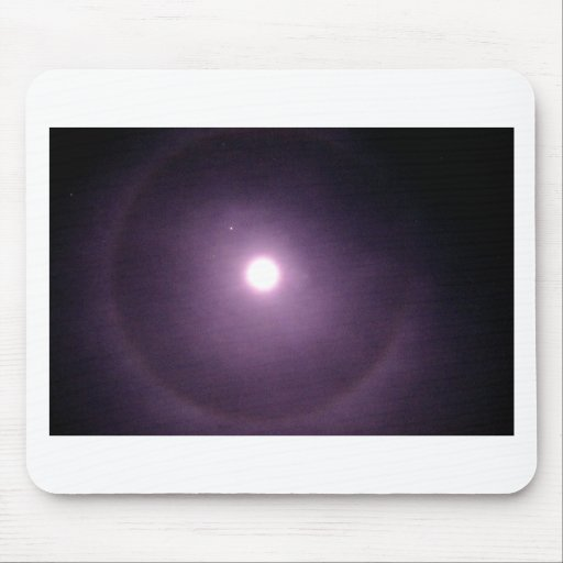 Purple rings around full moon mouse pads