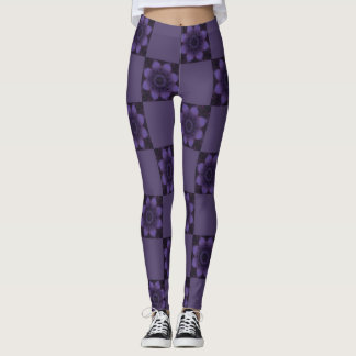 Purple River Reflection Leggings