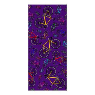 Purple road bikes personalized rack card