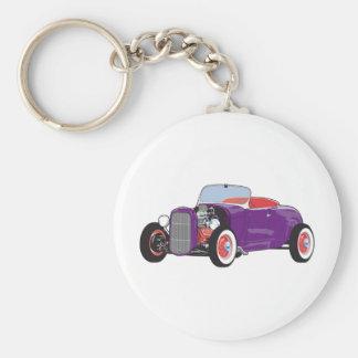 Purple Roadster Keychain