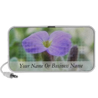 Purple Rock Cress Flower Mini Speakers