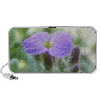 Purple Rock Cress Flower Speakers