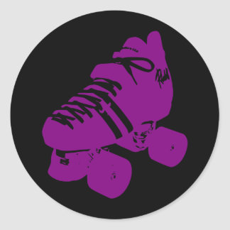 Purple Roller Derby Skate Sticker