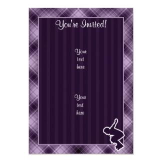 Purple Rollerblading 13 Cm X 18 Cm Invitation Card