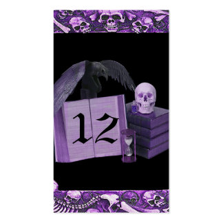 Purple Romance Skull Spellbook Wedding Double-Sided Standard Business Cards (Pack Of 100)