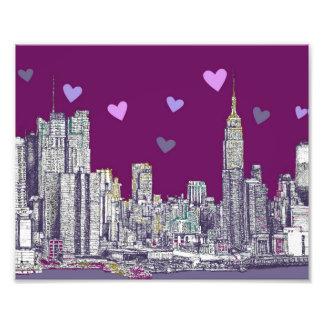 purple romantic New York Photo