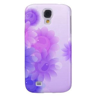 Purple romantic vintage flowers galaxy s4 case