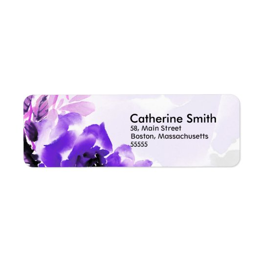 Purple Rose Address Labels