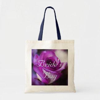 Purple Rose Bride Budget Tote Bag