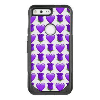 Purple Rose Emoji Google Pixel Otterbox Case