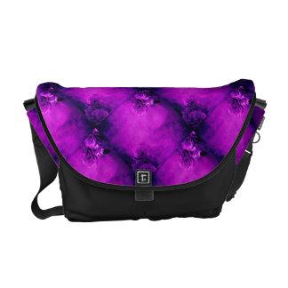 Purple rose feminine girls commuter bag