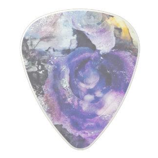 Purple Rose Guitar Pick