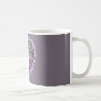 Purple Rose Heart Coffee Mugs