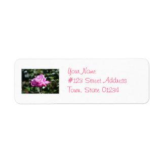 Purple Rose Return Address Label