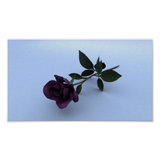 Purple Rose (light grey base) Poster