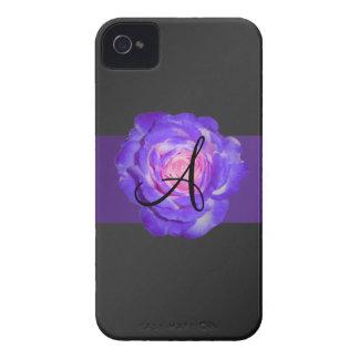 Purple rose monogram Case-Mate blackberry case