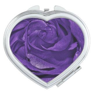 Purple Rose of Fibro Travel Mirror
