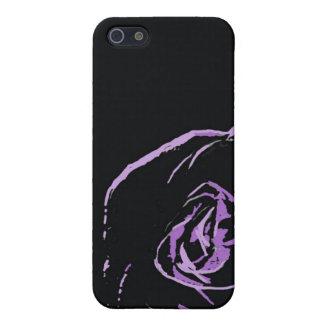 purple rose on black iPhone 5/5S case