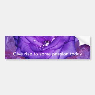 Purple Rose Passion Bumper Sticker
