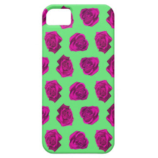 Purple Rose Pattern Barely There iPhone 5 Case