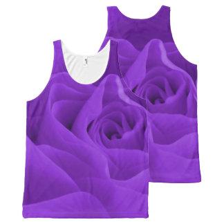 Purple Rose Petals All-Over Print Tank Top