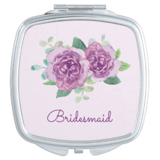 Purple Rose Pretty Watercolor Mirrors For Makeup