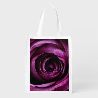 Purple Rose Grocery Bags