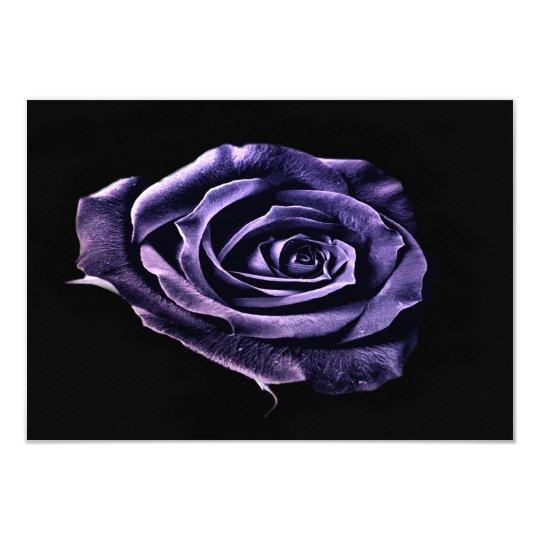 Purple rose rsvp card