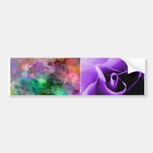 purple rose skin and pastel tie-dye ecig skin bumper stickers