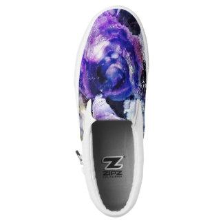 Purple Rose Slip-On Sneaker