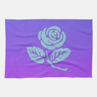 Purple Rose Tea Towel